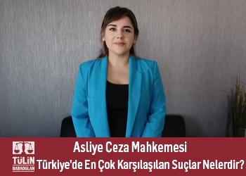 Asliye Ceza Mahkemesi Türkiye'deki en çok karşılaşılan suçlar hangileridir?
